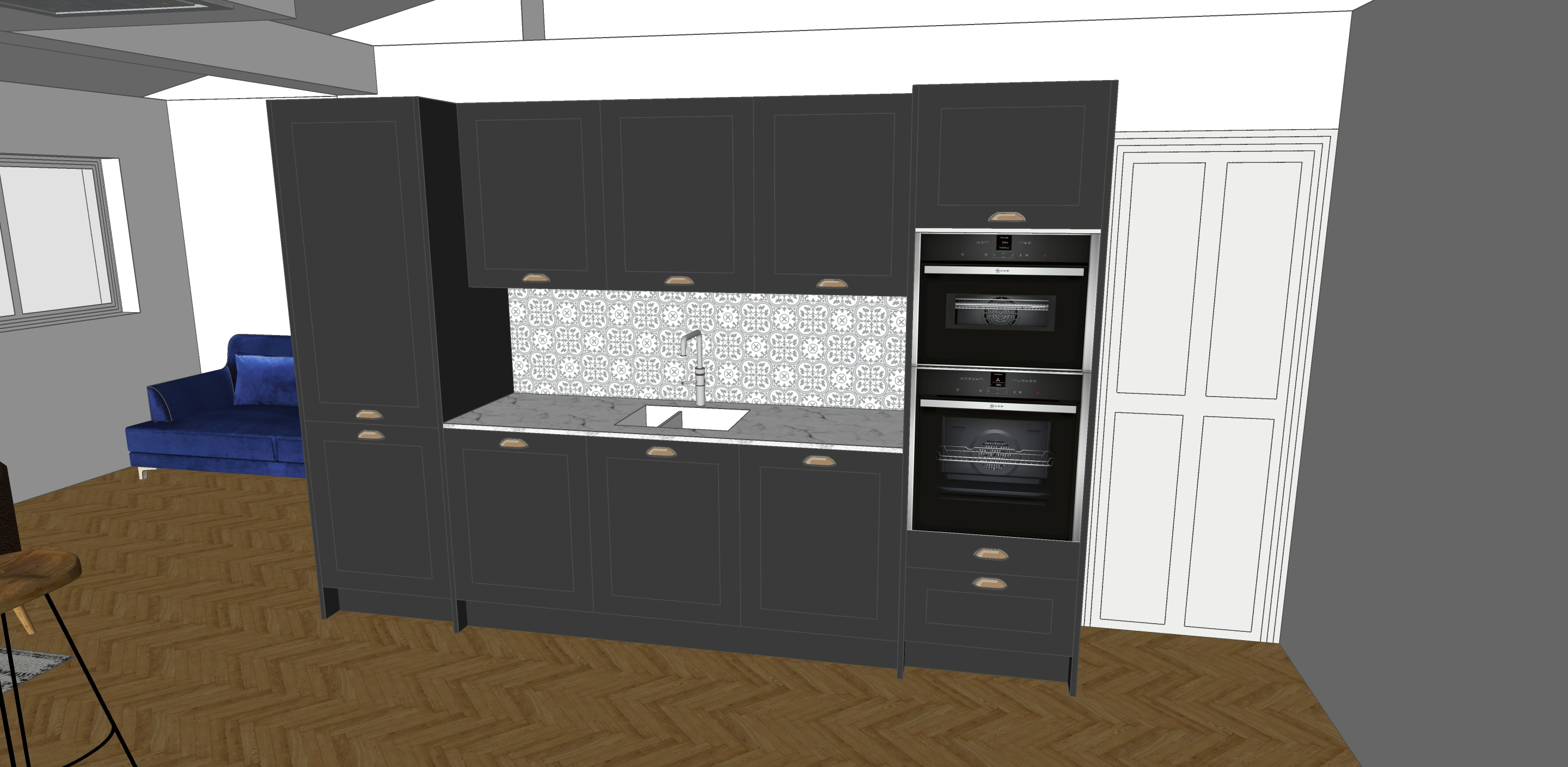 dark shaker kitchen