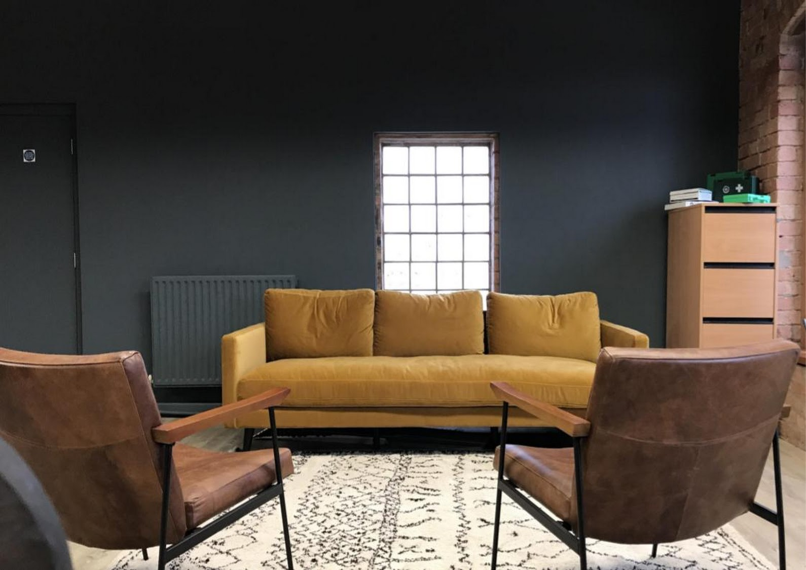 Yellow Sofa Leather Chairs