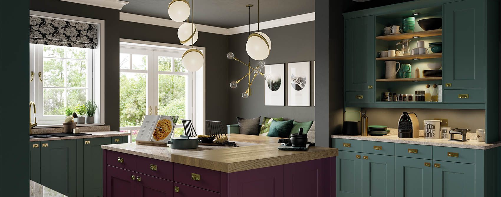 lick painted kitchen
