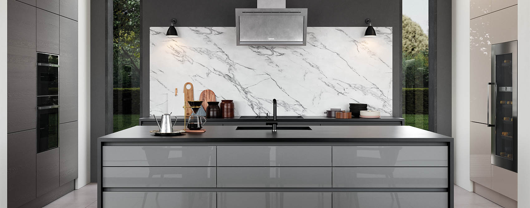 Gloss Grey Marble