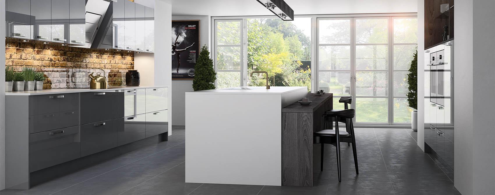 Grey gloss contemporary