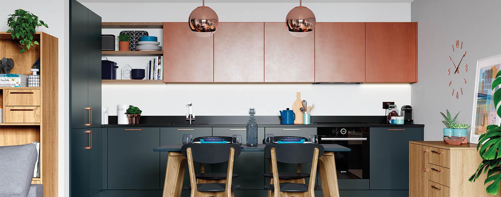 Copper blue contemporary